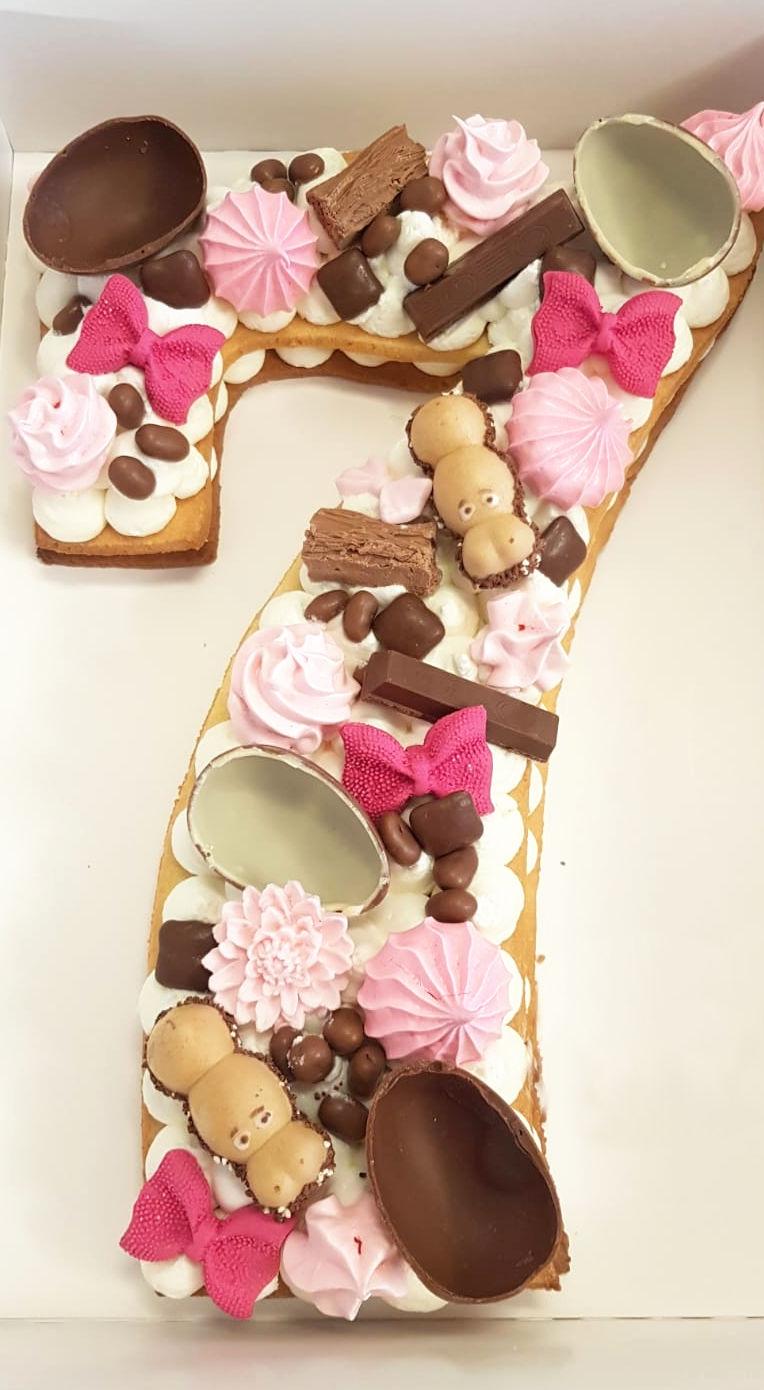 עוגת מספרים לבת