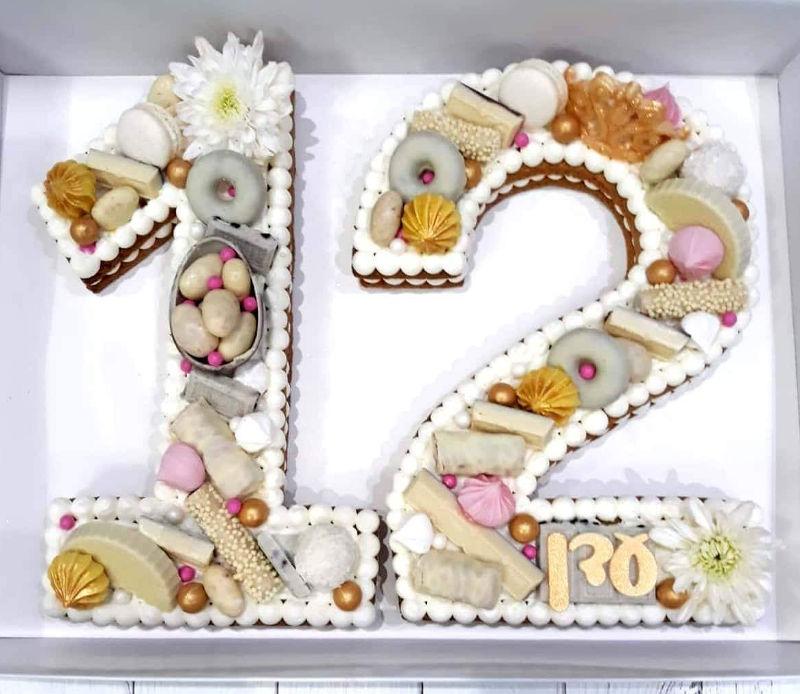 עוגת מספרים לבת מצווה