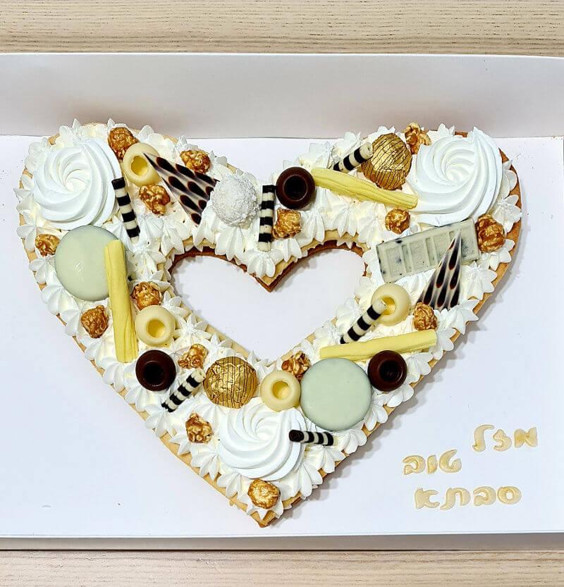 עוגת מספרים לב