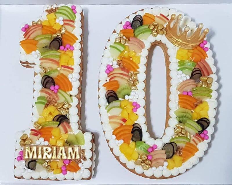 עוגת מספרים לגיל 10