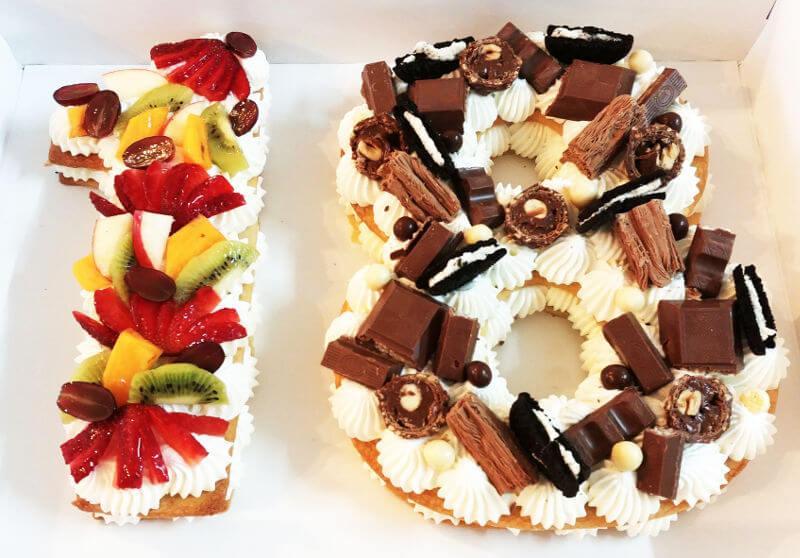 עוגת מספרים לגיל 18