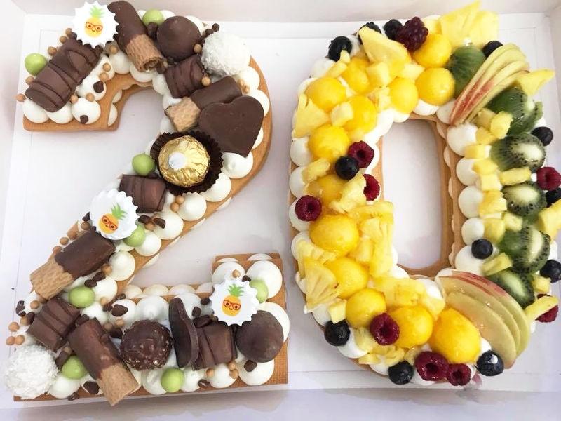 עוגת מספרים לגיל 20