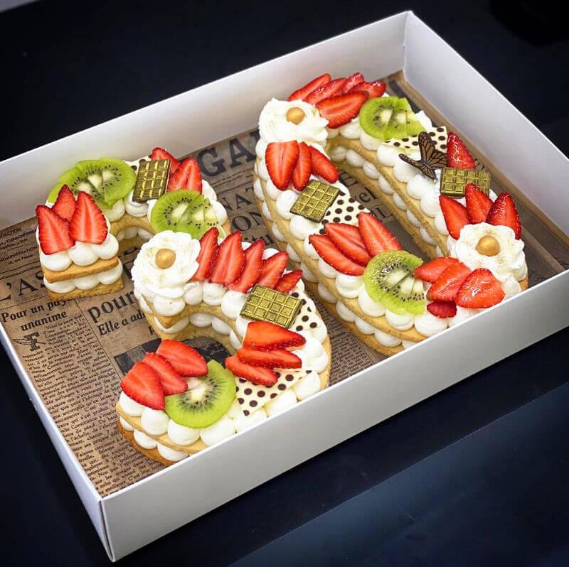 עוגת מספרים לגיל 30