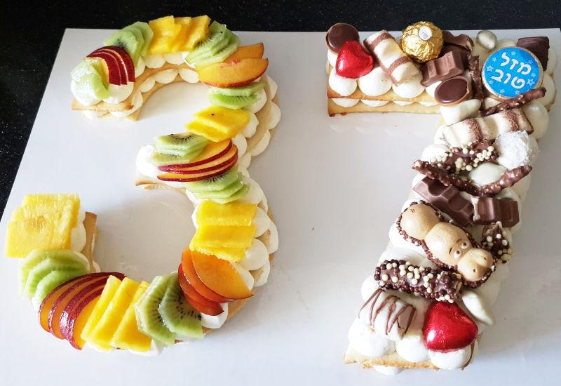עוגת מספרים מיוחדת לגיל 37