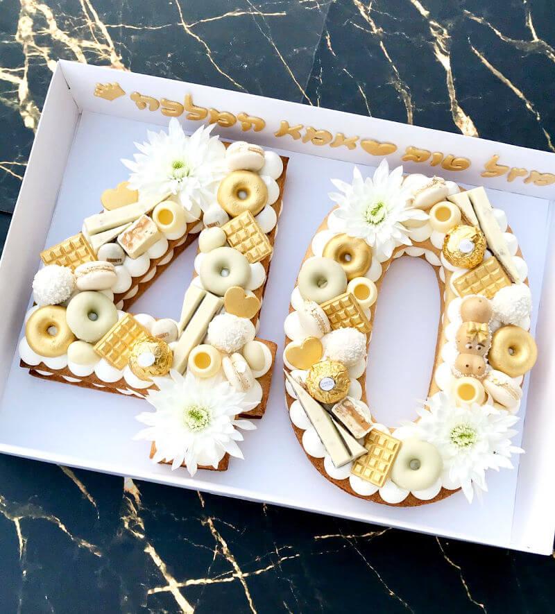 עוגת מספרים לגיל 40