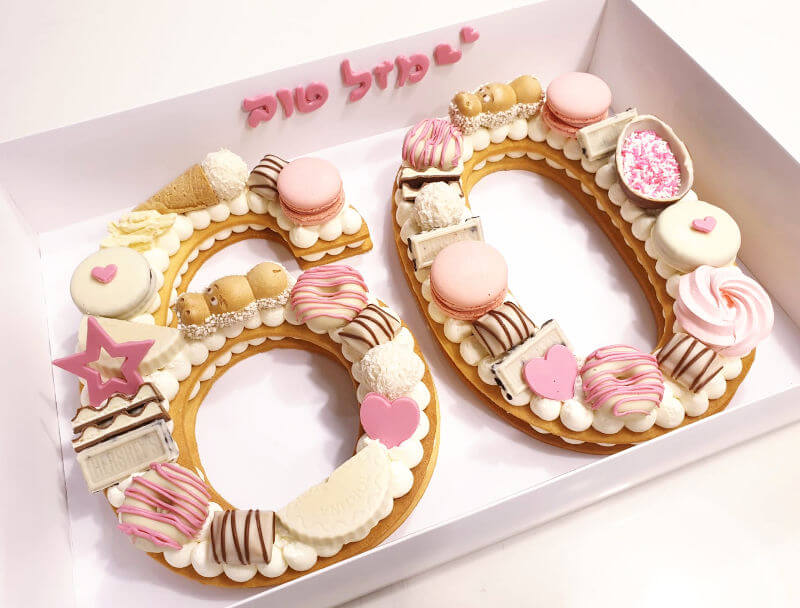 עוגת מספרים לגיל 60
