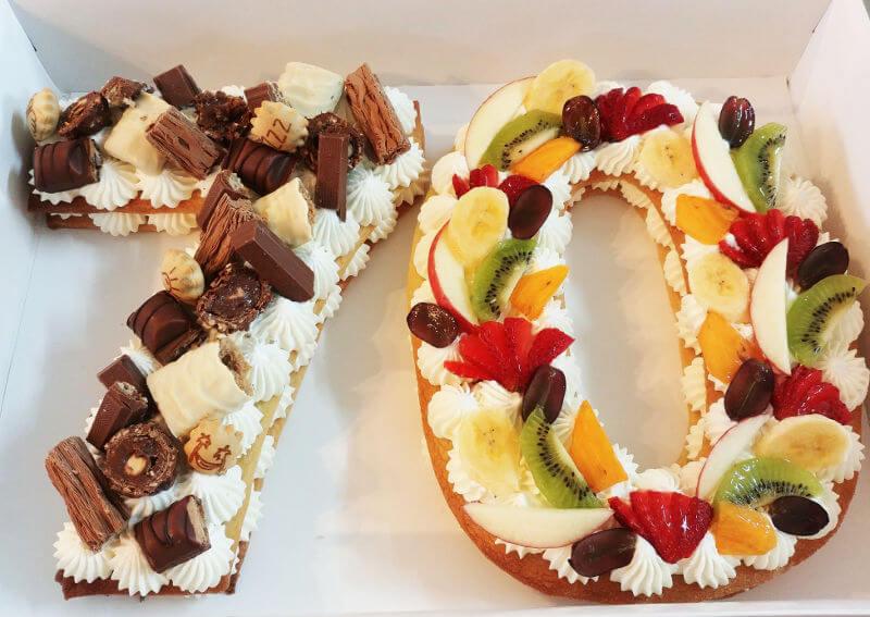 עוגת מספרים לגיל 70