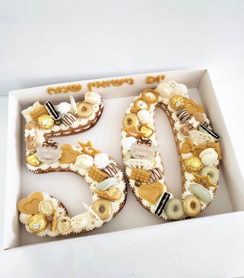 עוגת מספרים ליום נישואין 50