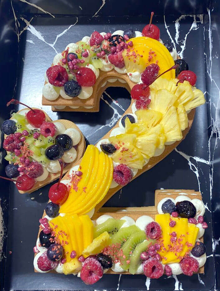 עוגת מספרים ללא גלוטן