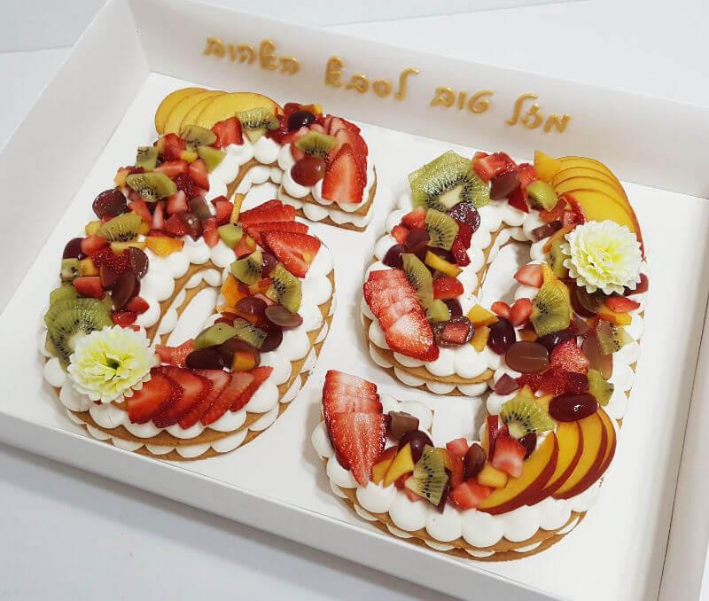עוגת מספרים מבצק פריך ופירות טריים