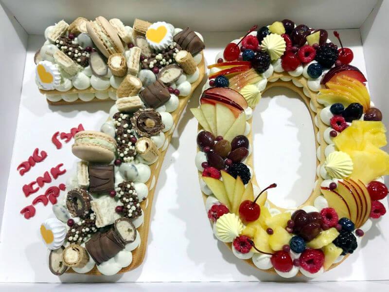 עוגת מספרים מעוצבת 12