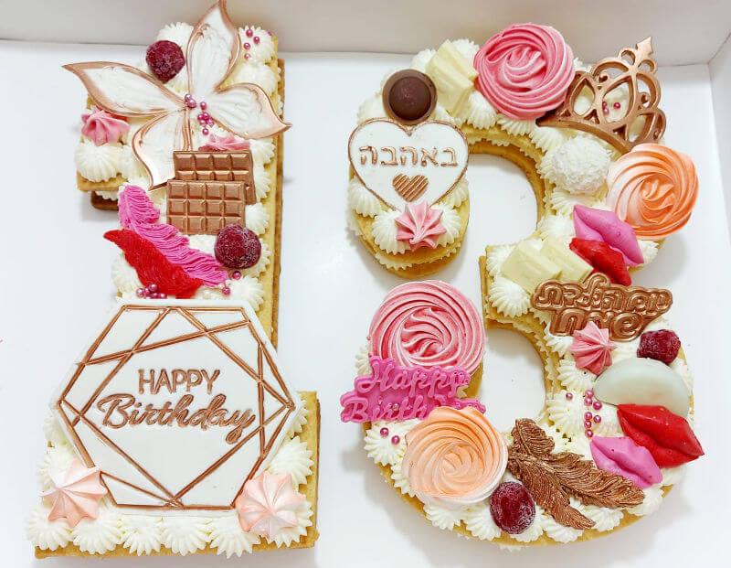 עוגת מספרים שוקולדים