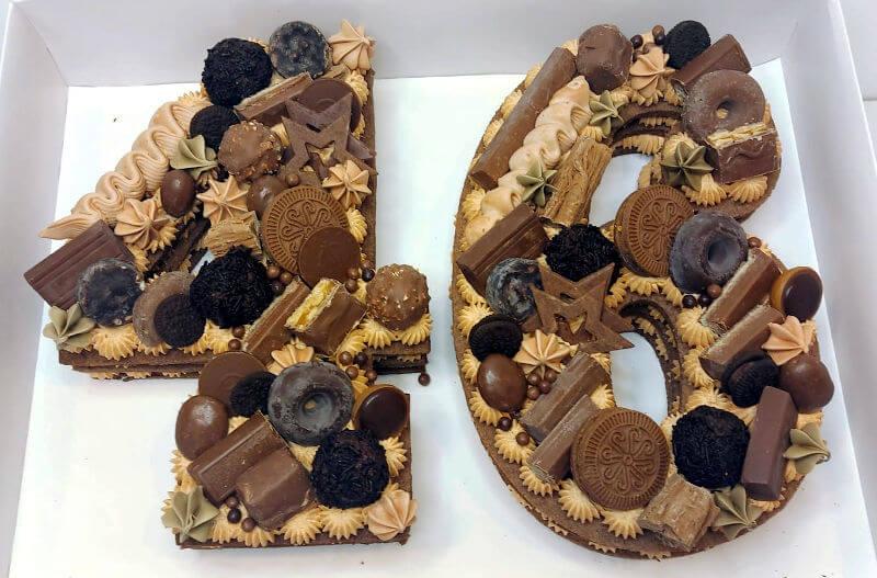 עוגת יום הולדת שוקולדית