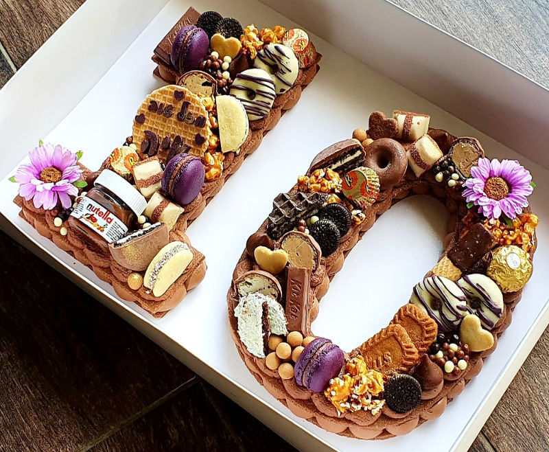 עוגת מספרים שוקולדית