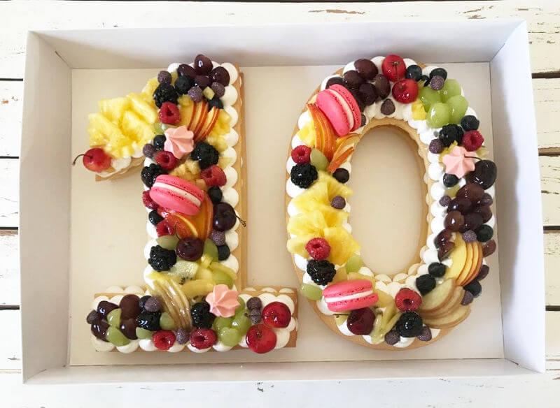 עוגת מספרים 10 פרווה מושלמת