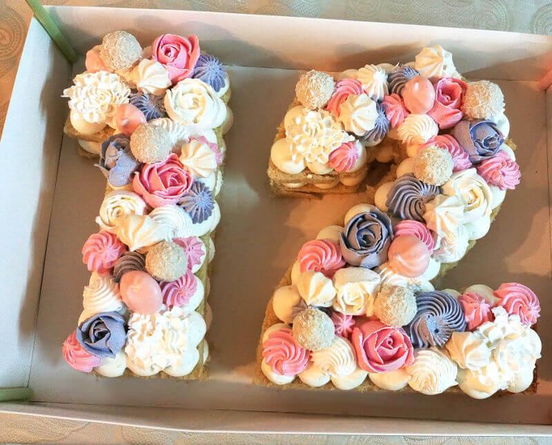 עוגת מספרים 12