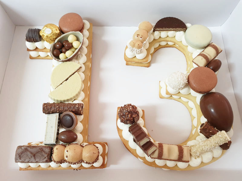 עוגת מספרים 13