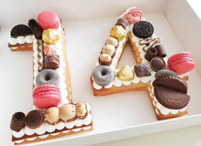 עוגת מספרים 14