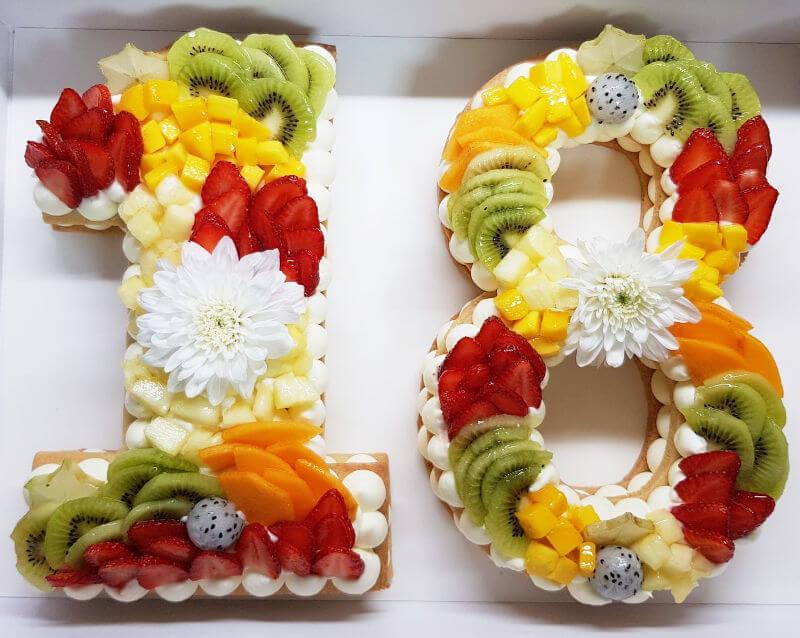עוגת מספרים 18