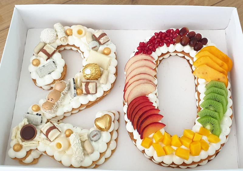 עוגת מספרים 20