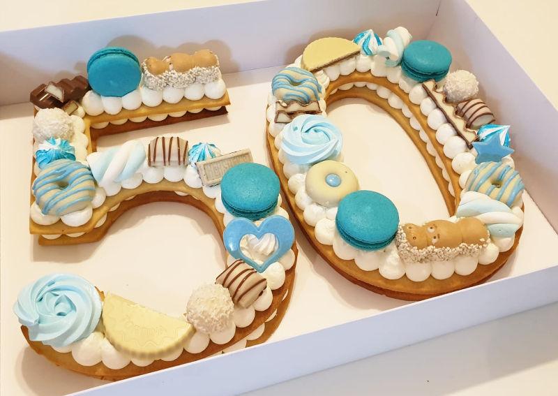 עוגת מספרים 50