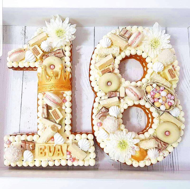 עוגת מספרים 80