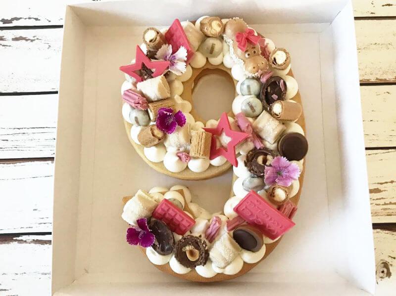 עוגת מספרים 9