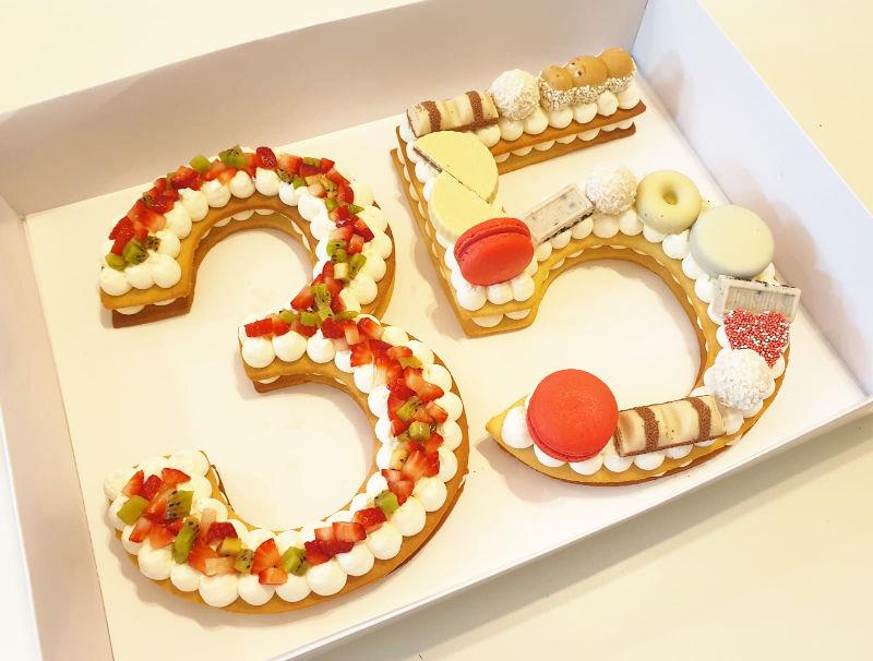 עוגת מספרים 35