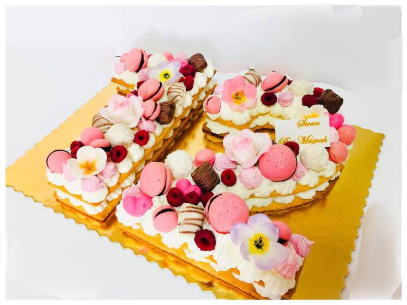עוגת מספרים עם תעודת כשרות