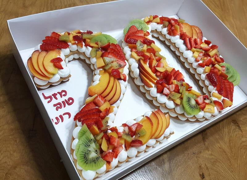 עוגת המספרים פירות