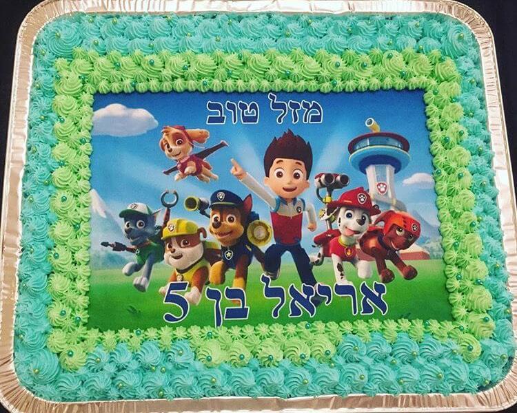 עוגת יום הולדת מפרץ ההרפתקאות מלבנית לגן