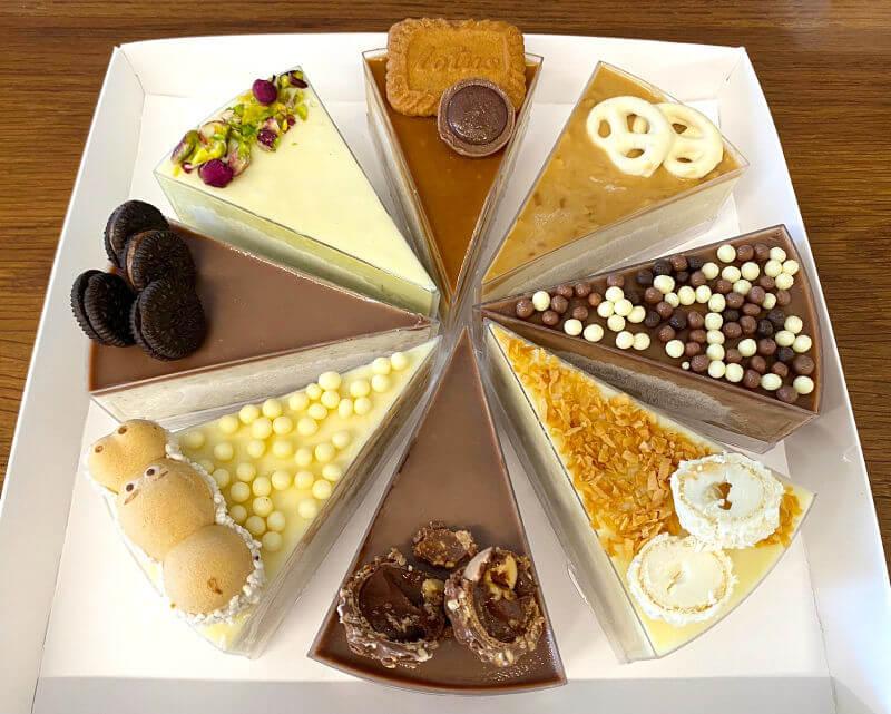 עוגת משולשי מוסים בטעמים