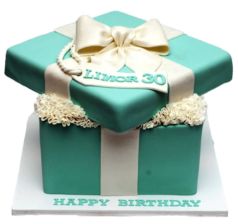 עוגת מתנה ליום הולדת 30
