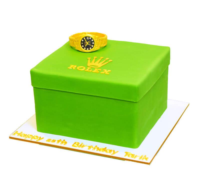 עוגת מתנה שעון רולקס