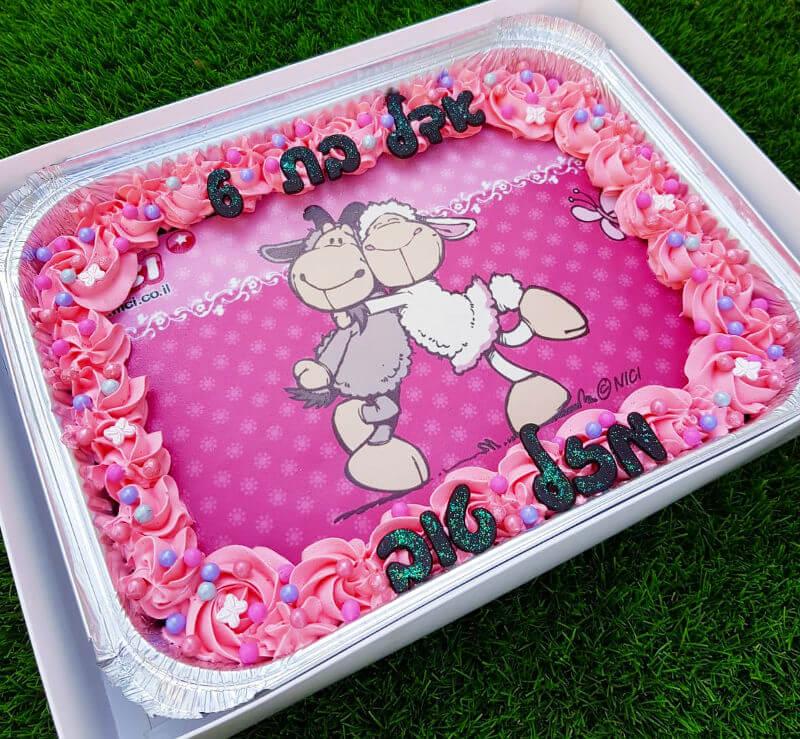עוגת ניקי מלבנית לגן