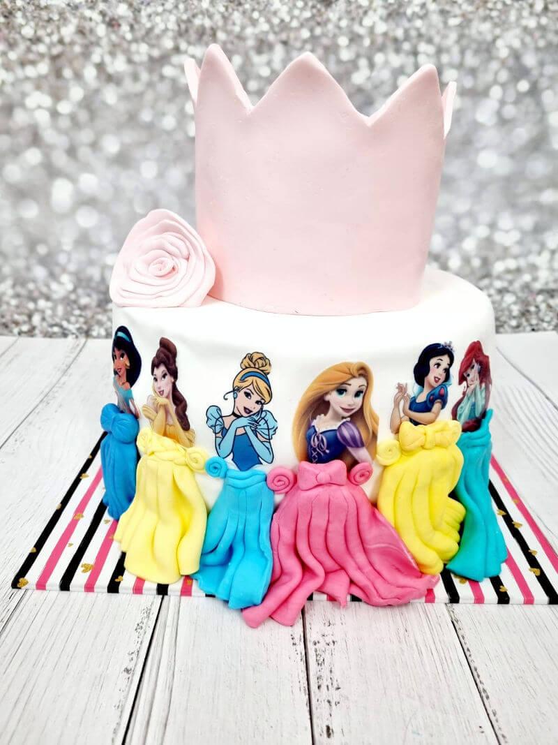 עוגת נסיכות דיסני ליום הולדת