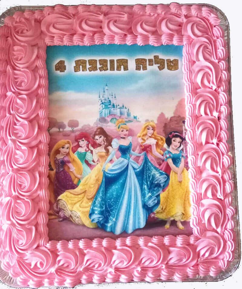 עוגת נסיכות מלבנית לגן