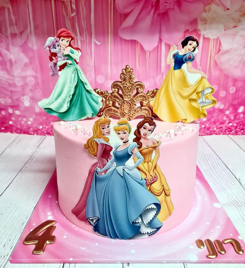עוגת נסיכות מעוצבת גם בפרווה