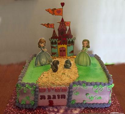 עוגת הנסיכה סופיה ליום הולדת