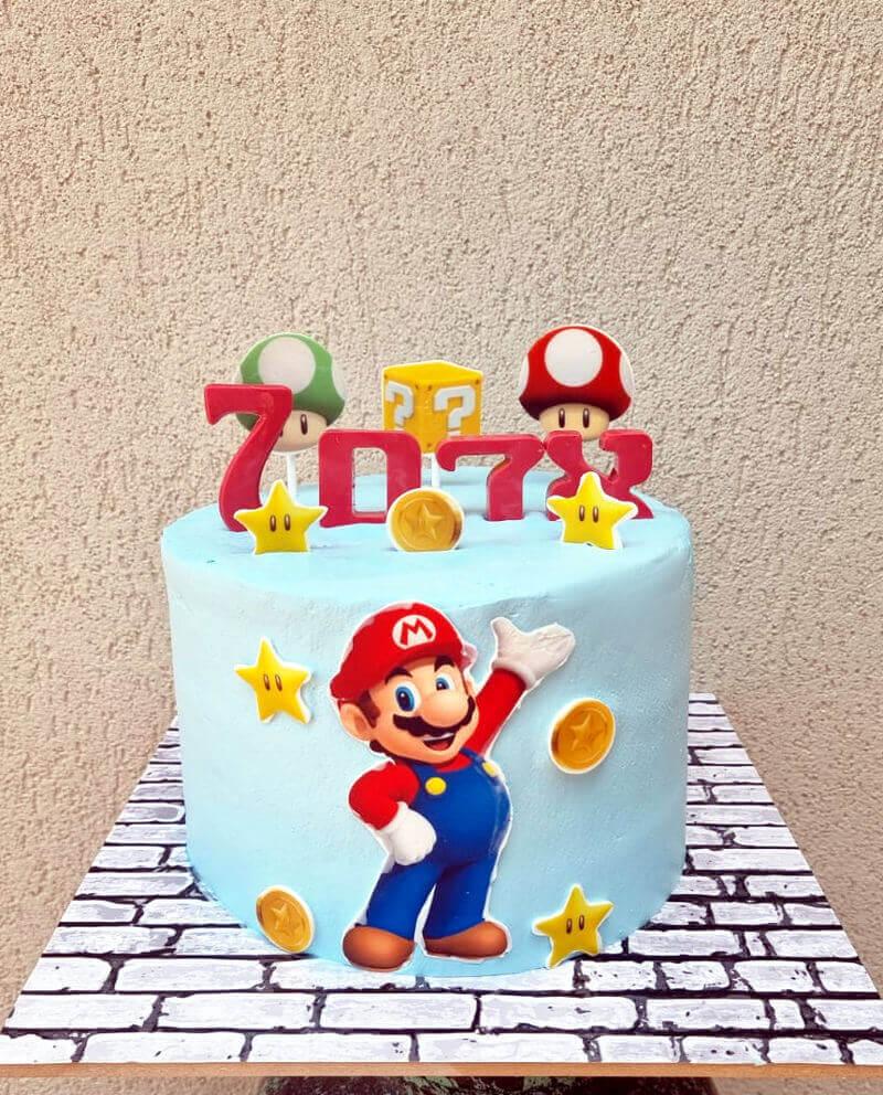 עוגת סופר מריו ליום הולדת