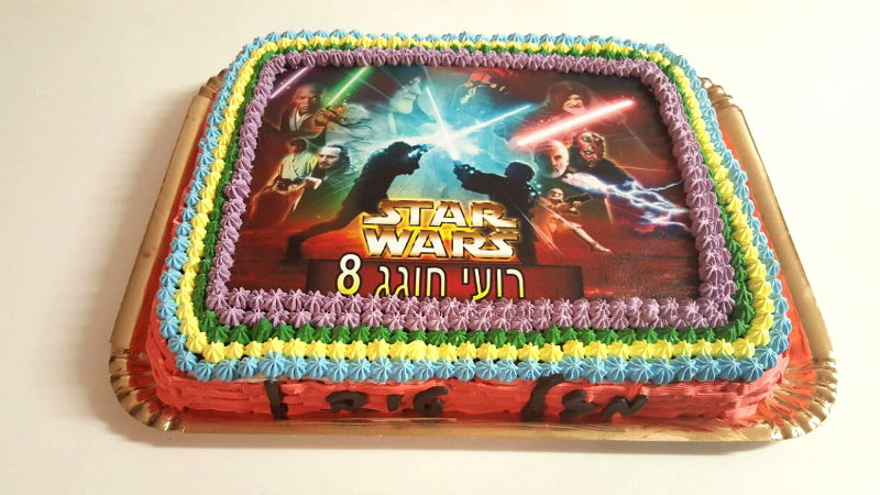 עוגת מלחמת הכוכבים star wars