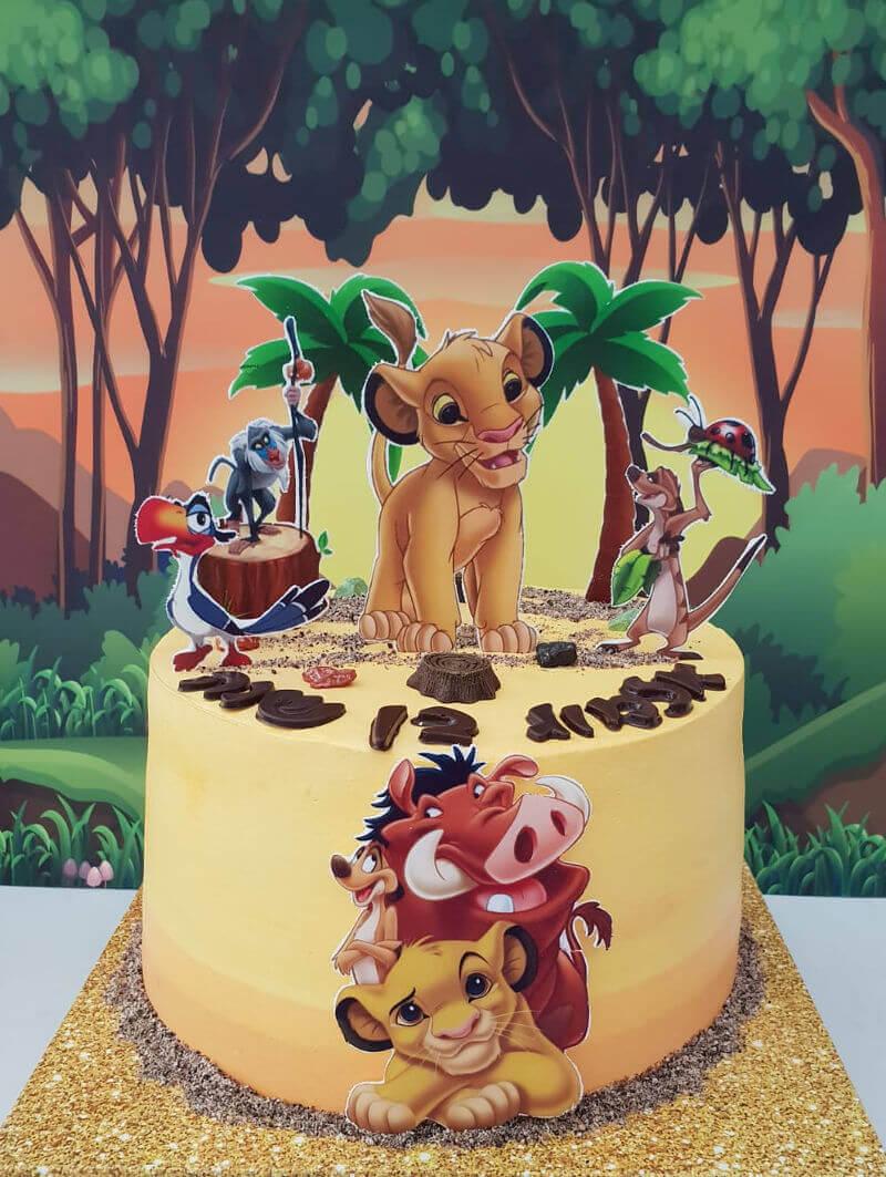 עוגת סימבה מלך האריות