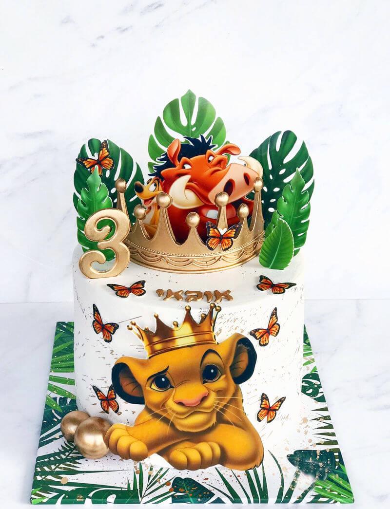 עוגה של סימבה משמר האריות ומלך האריות