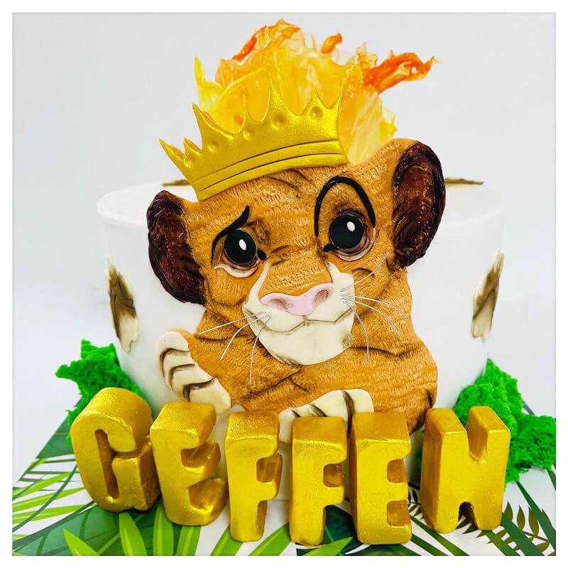 עוגת סימבה מלך האריות ומשמר האריות