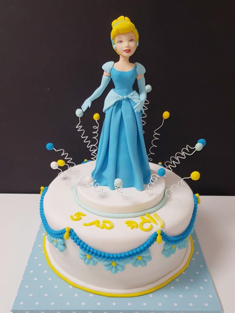 עוגת סינדרלה מבצק סוכר