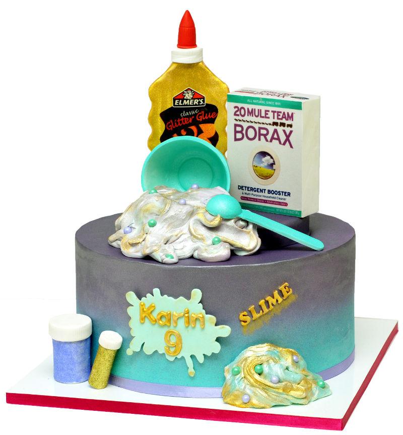 עוגת סליים מבצק סוכר