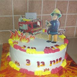 עוגת סמי הכבאי ליום הולדת בנים