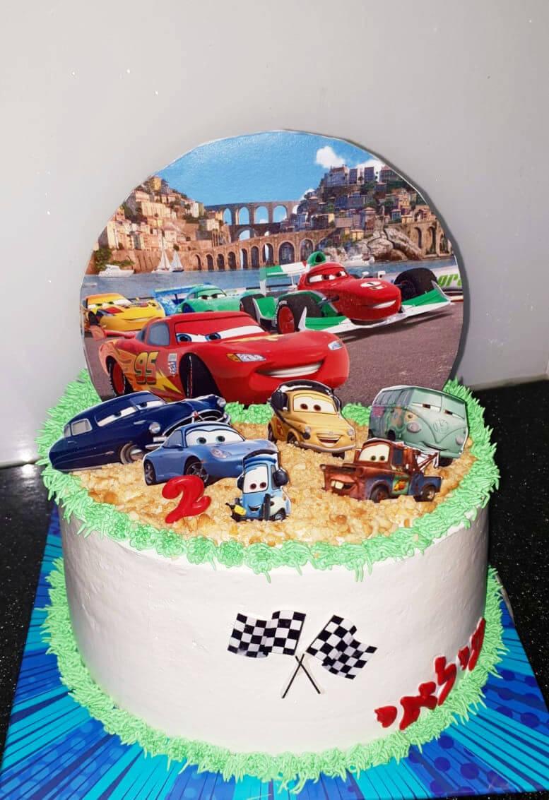עוגת ספידי מכוניות