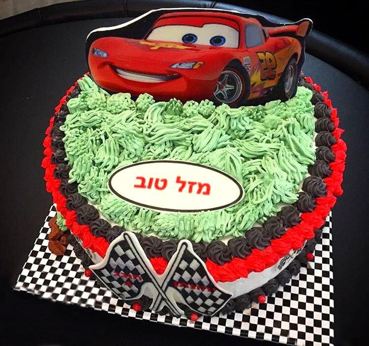 עוגת ספידי מכונית ליום הולדת