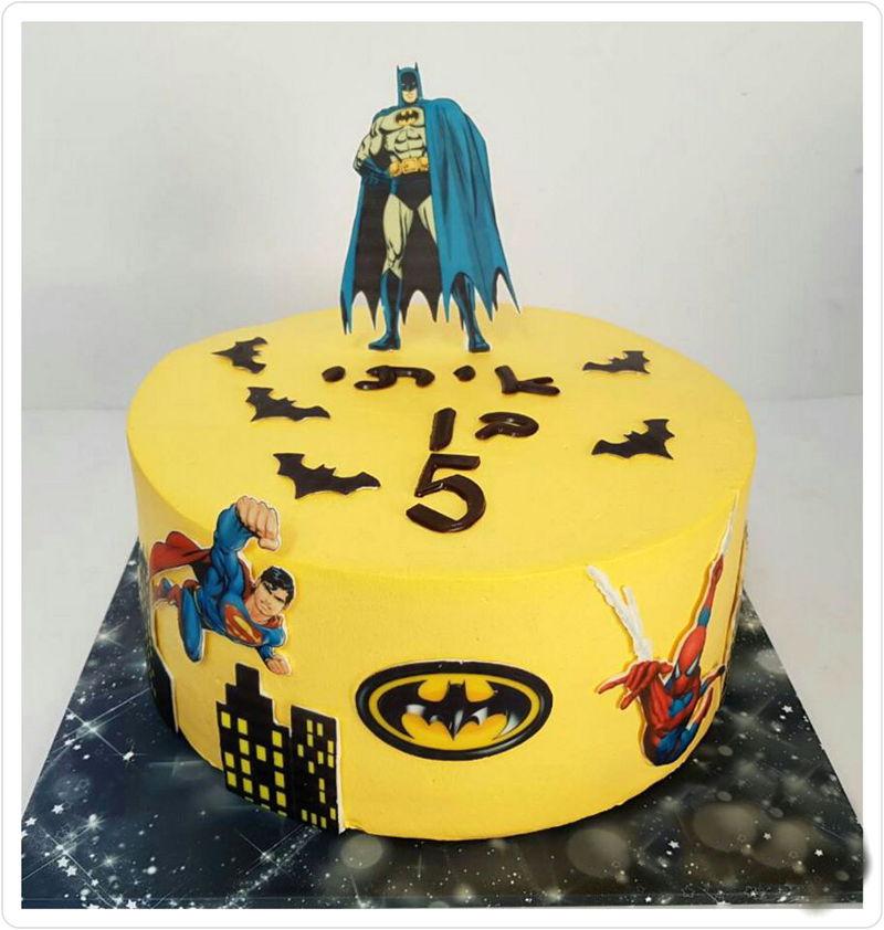 עוגת ספיידרמן באטמן וסופרמן
